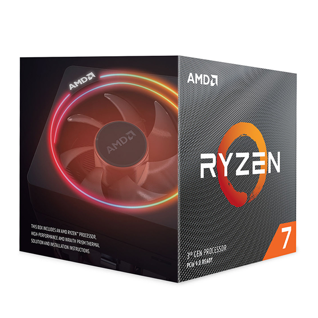 Procesador AMD Ryzen 7 3700X, 8 Cores, 16 Threads, 3.6Ghz Base, 4.4Ghz Max, Socket AM4, Wraith Prism with RGB LED
