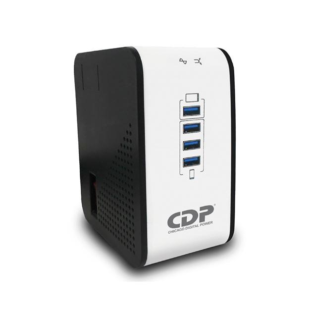 Regulador CDP R2CU-AVR 1008, 1000VA, 400W, 8 Contactos