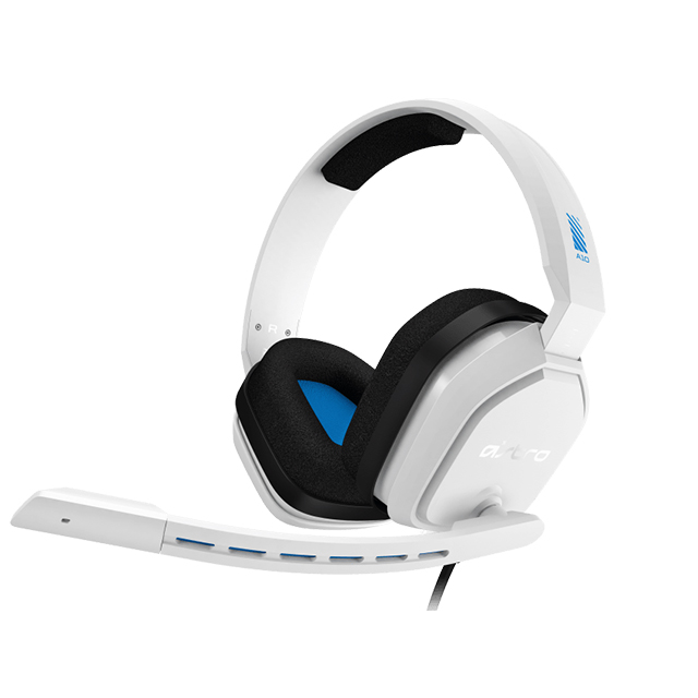 Diadema Astro A10, Blanco-Azul, Alambrico, 3.5mm, PS4, Xbox One, Mobile Devices