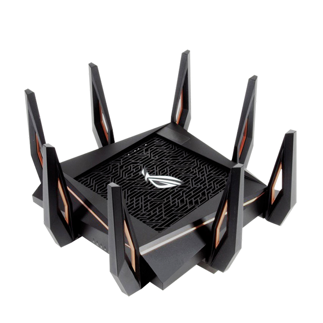 Router Asus ROG Rapture GT-AX11000, Wi-Fi 6 (802.11ax) Triple Banda, 2.4Ghz / 5Ghz / 5Ghz, Modo Gaming.