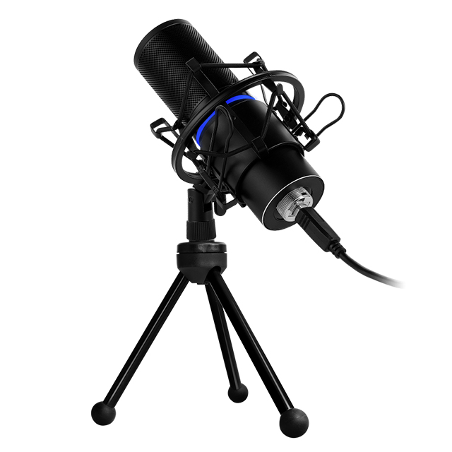 Microfono GameFactor MCG700, Plug-And-Play, USB, Filtro anti POP
