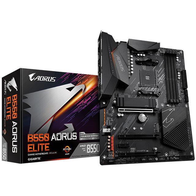 Tarjeta Madre Gigabyte B550 Aorus Elite, ATX, AM4, DDR4 4266Mhz OC, Dual M.2