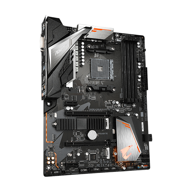 Tarjeta Madre Gigabyte B450 Aorus Elite V2, ATX, AM4, DDR4 3600Mhz OC, Dual M.2, Crossfire, RGB Fusion 2.0