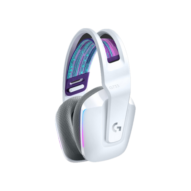 Diadema Logitech G733 Lightspeed Inalámbrico Blanco, RGB Lightsync, USB, PC, PS4, 7.1 Surround - 981-000882