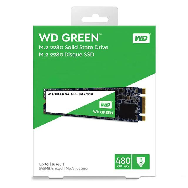 Unidad de Estado Solido SSD M.2 Western Digital WD Green 480GB, 545/545 MB/s, Sata III 6GB/s