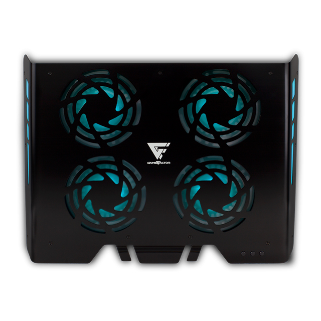 "Base Enfriadora para Laptop GameFactor CPG400, Hasta 17"", 4 Ventiladores de 120mm, RGB"