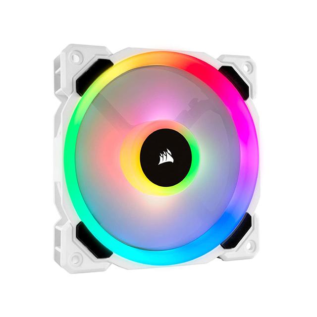 Ventiladores Corsair LL120 RGB White - Kit de 3 Ventiladores 120mm (Refurbished - 30 dias de garantia) - CO-9050092-WW/RF