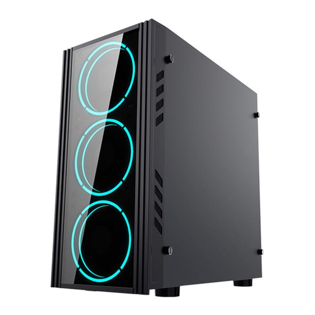 Gabinete Yeyian Kalt 1101, Panel Acrilico, 1 Ventilador Led Azul, Micro-ATX - YNH-K1101
