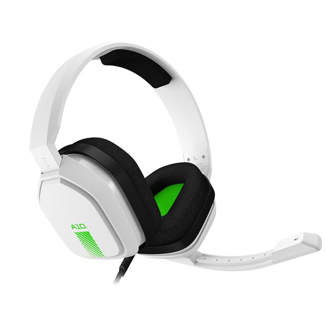 Diadema Astro A10, Blanco-Verde Alambrico, 3.5mm, Xbox One, PS4, Mobile Devices (Logitech)