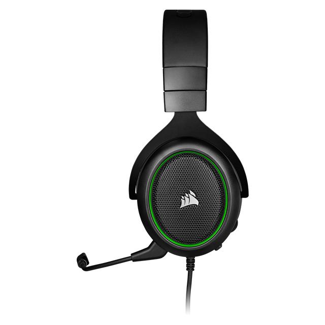 Diadema Corsair HS50 PRO Stereo Verde, Alámbrico, 3.5mm, PC, PS4, Xbox One, Switch, Mobile Devices