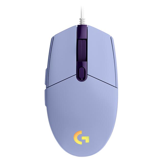 Mouse Logitech G203 Lightsync Lila, Alámbrico, 8,000 DPI - 910-005852