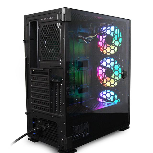 Gabinete Yeyian Hollow 2500, Negro, E-ATX, Cristal Templado, 3 Ventiladores ARGB - YGH-49703
