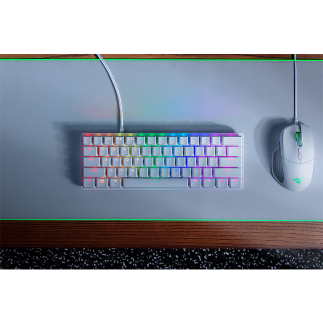 Teclado Mecanico Optico Razer Huntsman Mini White, 60%, Switches Optical Purple - RZ03-03390300-R3M1