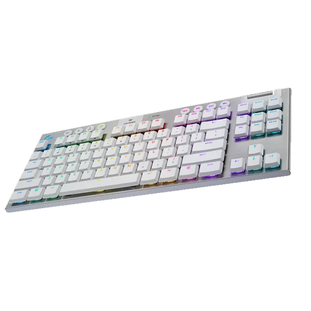 Teclado Mecánico Logitech G915 TKL Blanco, GL Tactile, Lightsync RGB, Lightspeed, Bluetooth - 920-009660