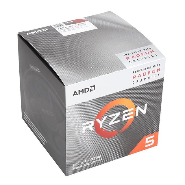 Procesador AMD Ryzen 5 3400G, 4 Cores, 8 Threads, Radeon Vega 11 Graphics, 3.7Ghz Base, 4.2Ghz Max, Socket AM4, Wraith Spire - (Venta limitada a 1 por persona)