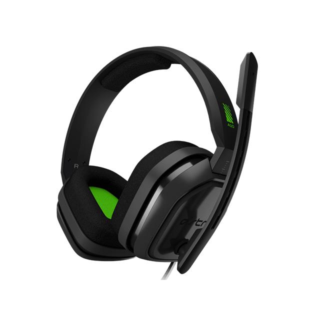 Diadema Astro A10 + Mixamp, Verde Gris, Alambrico, 3.5mm, Xbox One (Logitech)