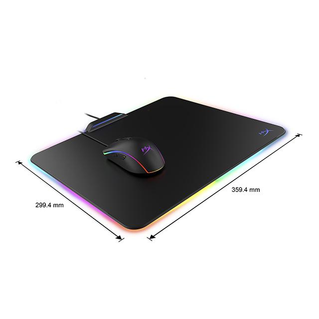 Mousepad HyperX Fury Ultra RGB, Rigido, Mediano, 340x300x4mm, HX-MPFU-M