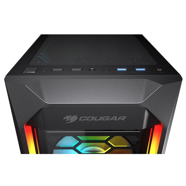 Gabinete Cougar MX410-G RGB, ATX, Cristal Templado, 4 Ventiladores ARGB - CGR-5VM6B-G-RGB