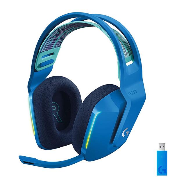 Diadema Logitech G733 Lightspeed Inalámbrico Azul, RGB Lightsync, USB, PC, PS4, 7.1 Surround - 981-000942