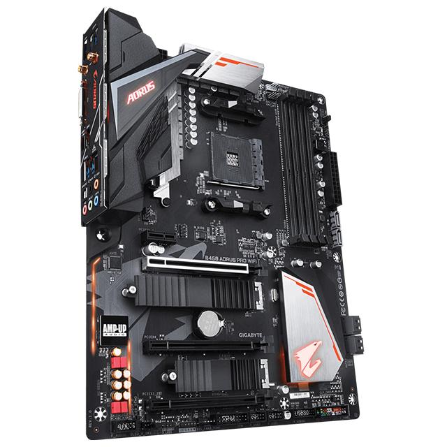 Tarjeta Madre Gigabyte B450 Aorus Pro WIFI, ATX, AM4, DDR4 3600Mhz OC, Dual M.2, Crossfire, RGB Fusion 2.0