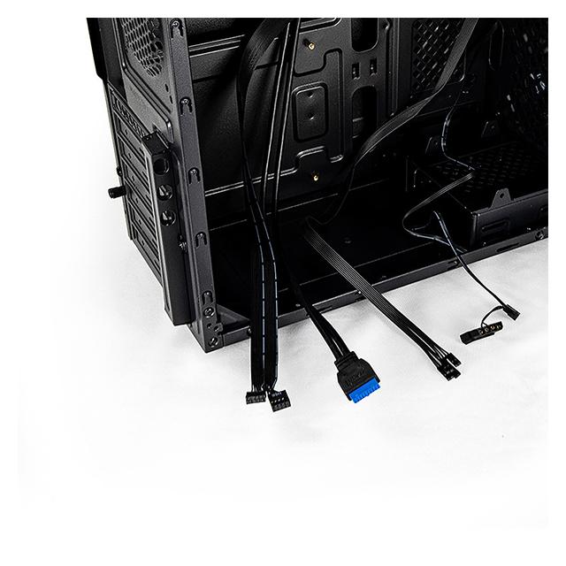 Gabinete Yeyian Stahl, ATX, 1 Ventilador LED, Negro - YNH-SL900