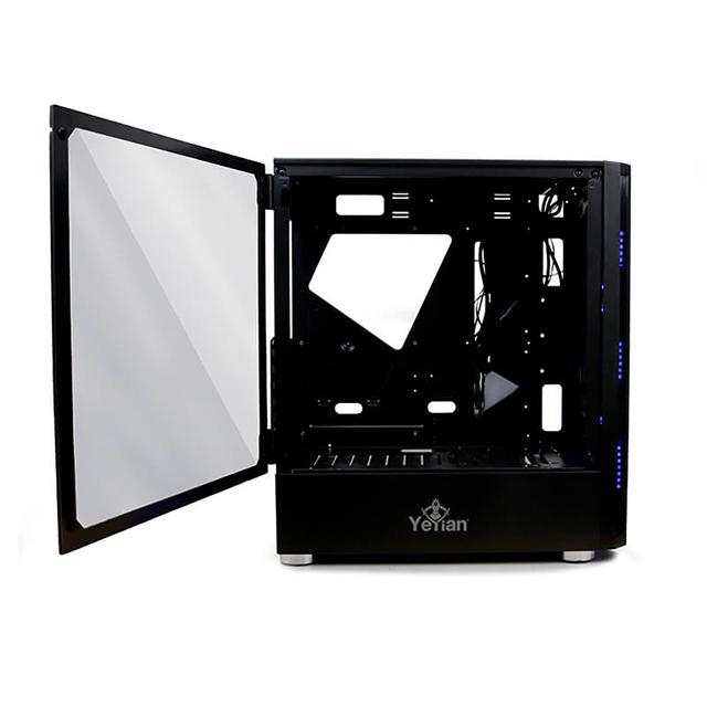 Gabinete Yeyian Shadow  2200, Cristal Templado, Negro, RGB