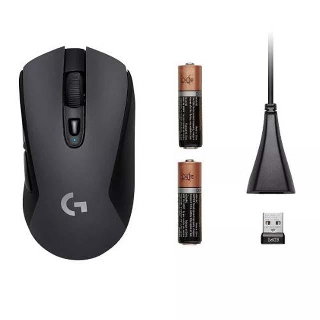 Mouse Logitech G603 Lightspeed Hero, Inalámbrico, Lightspeed 12,000 DPI - 910-005100