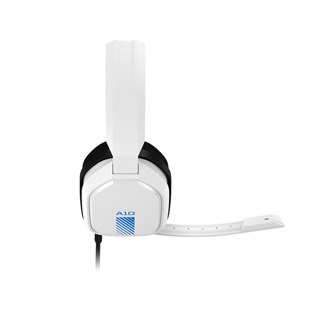 Diadema Astro A10, Blanco-Azul, Alambrico, 3.5mm, PS4, Xbox One, Mobile Devices (Logitech)