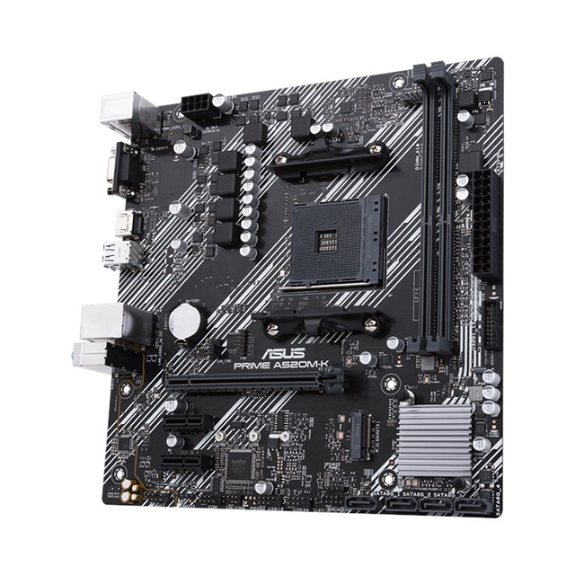 Tarjeta Madre Asus Prime A520M-K, Micro ATX, AM4, DDR4 4600Mhz, M.2