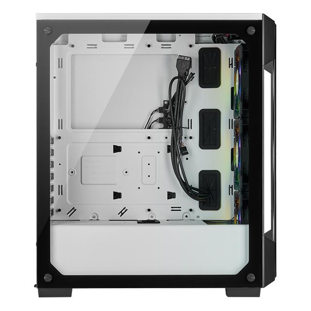 Gabinete Corsair Icue 220T RGB, Cristal Templado, 3 Ventiladores RGB, ATX - CC-9011191-WW
