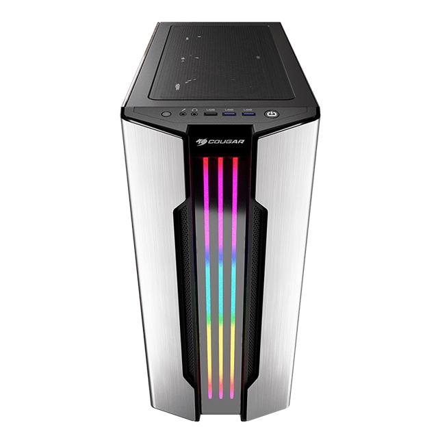 Gabinete Cougar Gemini S Silver (2020) ARGB, Soporte GPU Vertical, Cristal Templado, E-ATX