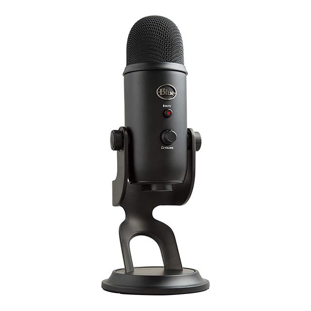 Microfono Blue Yeti Black, Plug-And-Play USB (Logitech)