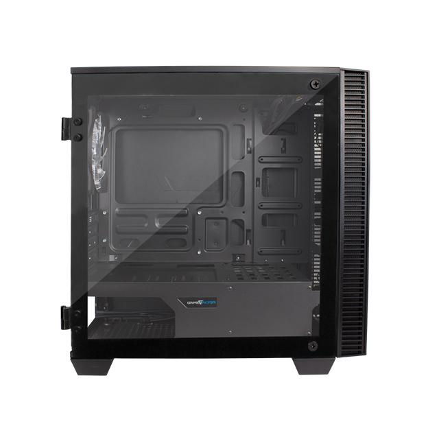 Gabinete GameFactor CSG560, Micro-ATX, ARGB, Vidrio Templado, Panel frontal Infinity