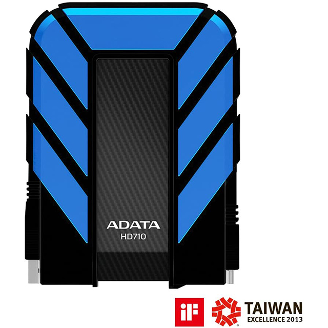 Disco Duro Externo Adata HD710 Pro, 1TB, Azul, USB 3.1, Resistente a golpes, agua y polvo, certificación grado militar