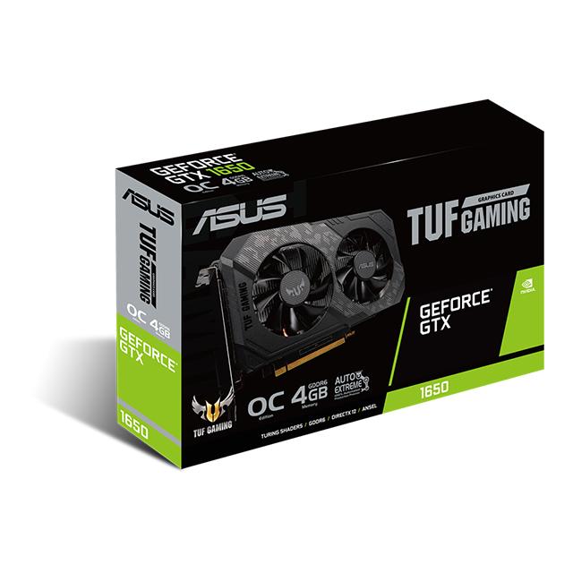 Tarjeta de Video Nvidia Asus TUF Gaming GeForce GTX 1650 4GB GDDR6 - TUF-GTX1650-4GD6-P-GAMING - (Venta exclusiva en ensamble, no para su venta individual)