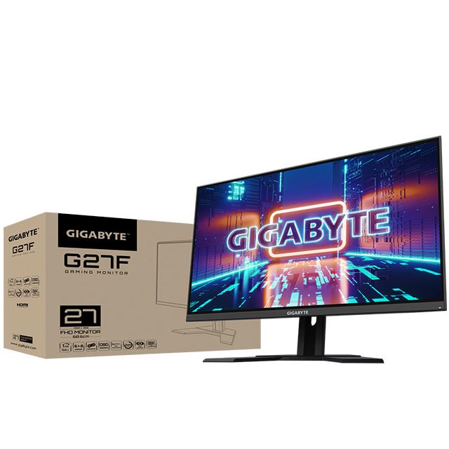 "Monitor Gigabyte G27F 27"", 1920 x 1080, HDMI, Displayport, USB3.0, IPS, 1MS, 144Hz, Audio, AMD Freesync"