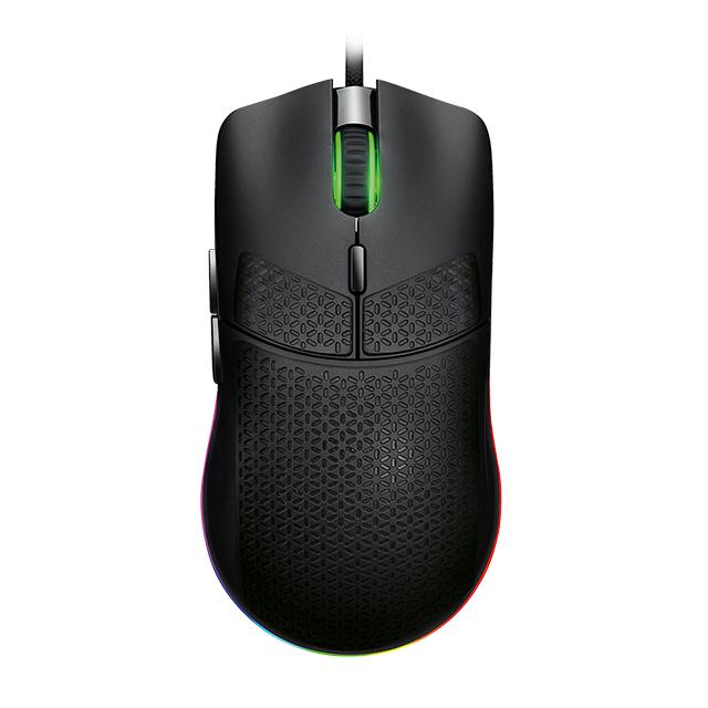 Mouse GameFactor MOG601, Alámbrico, RGB, 16,000 DPI, PIXART 3389, 7 Botones, Ultralight, Blanco