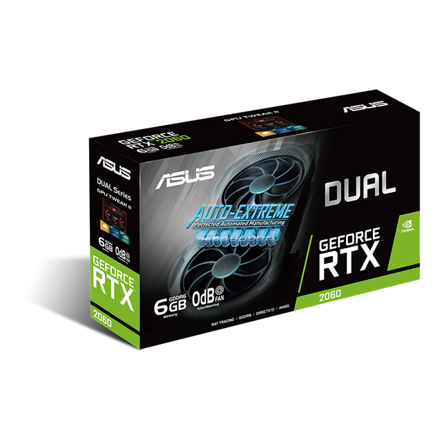 Tarjeta de video Nvidia Asus Dual GeForce RTX 2060 EVO 6GB GDDR6 - DUAL-RTX2060-6G-EVO - (Venta exclusiva por transferencia electrónica o depósito bancario)