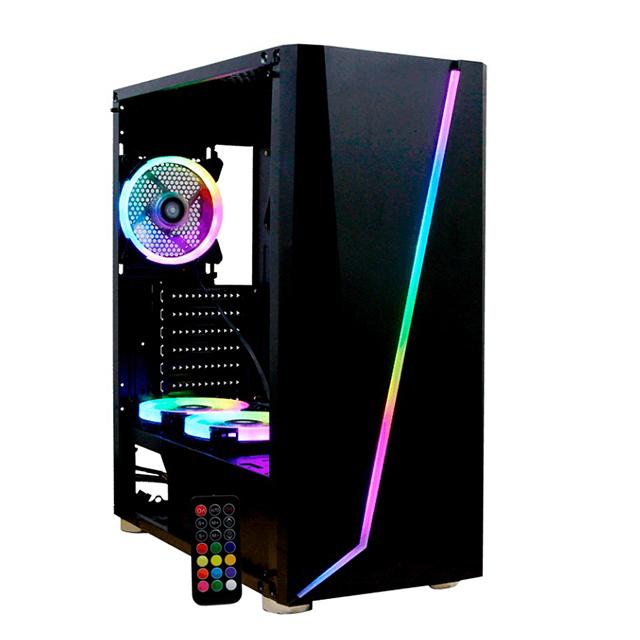 Gabinete Yeyian Armageddon 2200, Cristal Templado, 3 ventiladores RGB - YGA-68809