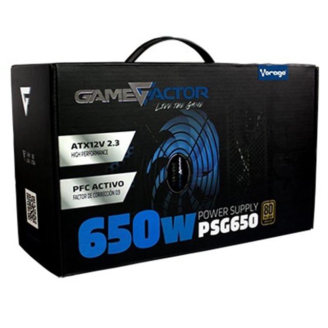Fuente de Poder GameFactor PSG650 650Watts 80 Plus Bronze