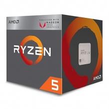 Procesador AMD Ryzen 5 2400G, 4 Cores, 8 Threads, Radeon Vega 11 Graphics, 3.6Ghz Base, 3.9Ghz Max, Socket AM4, Wraith Stealth - (Venta exclusiva en ensamble y no para su venta individual)