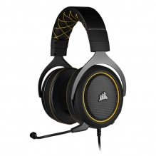 Diadema Corsair HS60 PRO Amarillo, Alámbrico, USB, 3.5mm, PC, PS4, Xbox One, Nintendo Switch, Mobile Devices, 7.1 Surround - CA-9011214-NA