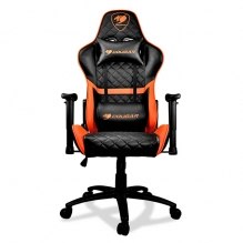 Silla Gamer Cougar Armor One Black/Orange, Vinil, Reclinable, 4D