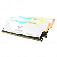 Memoria RAM Teamgroup T-Force Delta RGB 16GB 2X8GB 3200Mhz Blanca - TF4D416G3200HC16CDC01