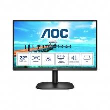 "Monitor AOC 22B2H 21.5"" 1920 X 1080, 6.5 ms, 75 Hz, Panel VA, Montaje VESA, VGA, HDMI"