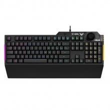 Teclado Membrana Asus TUF Gaming K1, Perilla de Volumen, RGB, Aura Sync