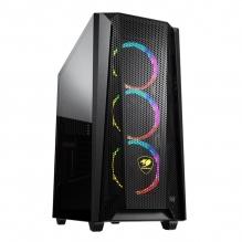 Gabinete Cougar MX660 Mesh RGB, Cristal Templado, 3 Ventiladores RGB, Sporte GPU Vertical, ATX - CGR-5BMSB-MESH-RGB