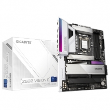 Tarjeta Madre Gigabyte Z590 Vision G, 10-11 Gen Intel, DDR4 5333Mhz OC, ATX, Quad M.2, RGB Fusion 2.0