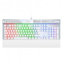 Teclado Mecanico Redragon Yama White K550W-RGB-1-SP, Switches Redragon Purple, Macros personalizables, Reposa muñecas, Español