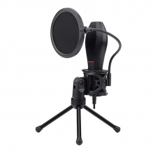 Microfono Redragon Quasar GM200, Plug-And-Play, USB, Filtro anti POP